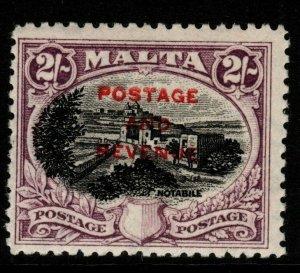 MALTA SG188 1928 2/= BLACK & PURPLE MTD MINT