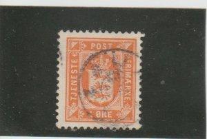 Denmark  Scott#  O11  Used  (1902 Official Stamp)