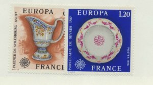 France Scott #1478 To 1479, Europa Issue From 1976