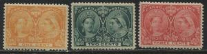 Canada 1897 1¢, 2¢, and 3¢ Jubilees unmounted mint NH