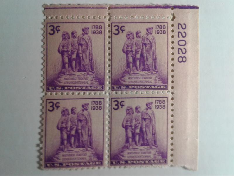 SCOTT # 837 PLATE BLOCK MINT NEVER HINGED GEM NORTHWEST TERRITORY
