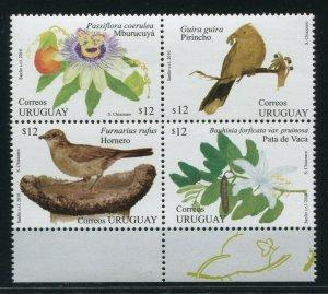 Uruguay 2010 Sc 2306 Birds Floowers CV $7