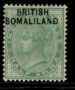 SOMALILAND PROTECTORATE EDVII SG1, ½a yellow-green, M MINT.