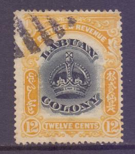 North Borneo Labuan Scott 104 - SG123, 1902 Crown Colony 12c used CTO