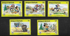 Antigua & Barbuda  (1985)  - Scott # 890  - 894,   MNH