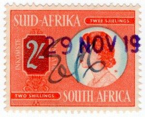 (I.B) South Africa Revenue : Duty Stamp 2/-