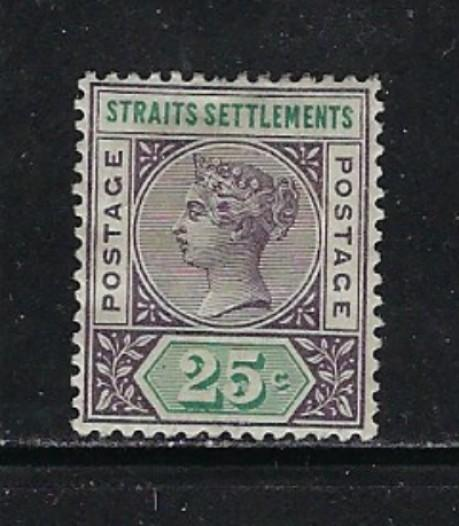 Straits Settlements 86 Hinge remnant From 1892-99 set