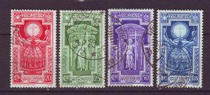 J24790 JLstamps 1933 italy part of set used #310-13 cross in halo