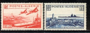 Algeria # B55-56, Mint Never Hinge. CV $ 20.00