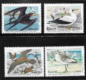 1985    BRAZIL  -  SG.  2168 / 2171  -  NATIONAL MARINE PARK  -  MNH