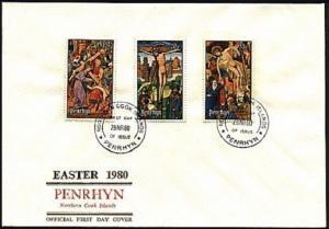 PENRHYN ISLAND 1980 Easter commem FDC.....................99609