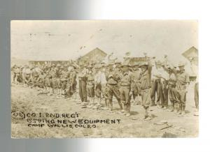 1916 El paso Texas Postcard Cover to OH  Mexico Revolution US Army CAmp Wallis