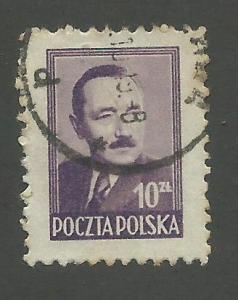1950 Poland Scott Catalog Number 440 Used