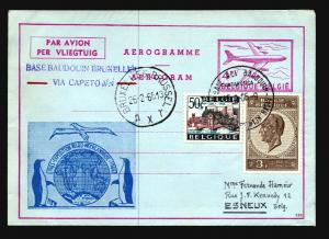 Belgium 1966 Antarctic Expedition Aerogramme / Cacheted - Z15185