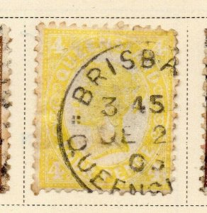 Queensland 1897-1900 Early Issue Fine Used 4d. 326850