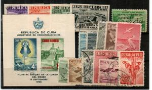 Cuba group of Used sets Scott C18-21,C31,C149 CTO, C136-46 (CV $42.00)