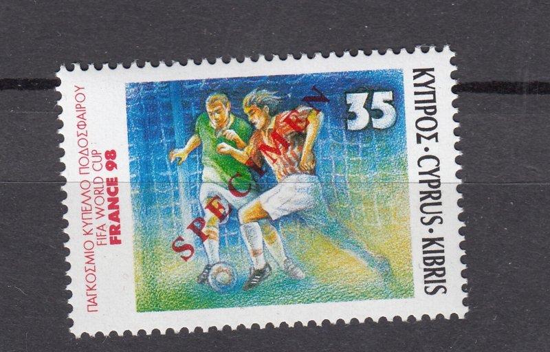 J28410 1998 cyprus mnh set of 1 specimen #917 sports