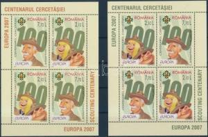 Romania stamp Europa CEPT 2 mini sheet set + blockset MNH 2007 WS165351
