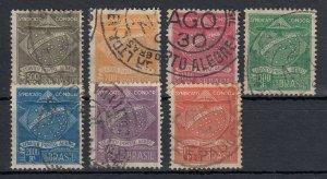 Brazil 1927 Syndicato Condor Complete Set Used. Scott 1CL1-1CL7