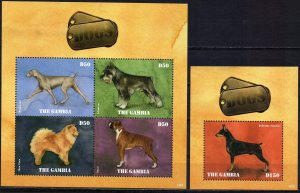Gambia. 2014. dogs. MNH.