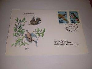 British Virgin Islands 1985 Birds First Day Cover