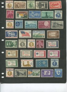 STAMP STATION PERTH USA Early Selection of 37 Stamps Unchecked Mint -Lot 14