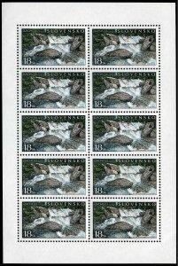 Slovakia 379 sheet,MNH.Michel 394 klb. EUROPE CEPT-2001.Waterfalls.