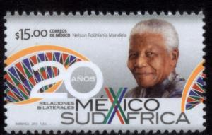 MEXICO 2838, DIPLOMATIC RELATIONS WITH SOUTH AFRICA, 20th ANNIV.. MINT, NH. F-VF