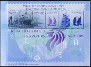 Singapore 2004 undenominated perf printer's sample sheet ...