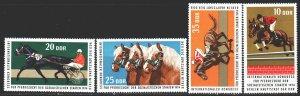 GDR. 1974. 1969-72. Equestrian, horses. MNH.