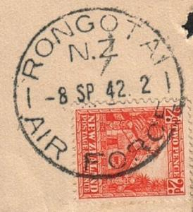NEW ZEALAND 1942 piece - very fine RONGOTAI / AIR FORCE cds...............78808