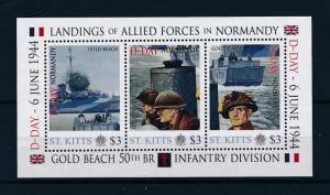 [81028] St. Kitts 2011 Second World war D-day Invasion Normandy Sheet MNH