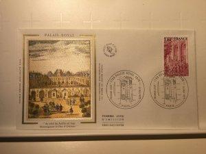 France Colorano silk FDC, 19 mai 1979, Palais royal 1789-1979, Paris