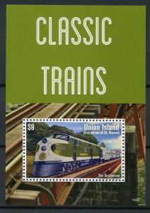 Union Island Gren St Vincent 2014 MNH Classic Trains Southerner 1v S/S Stamps