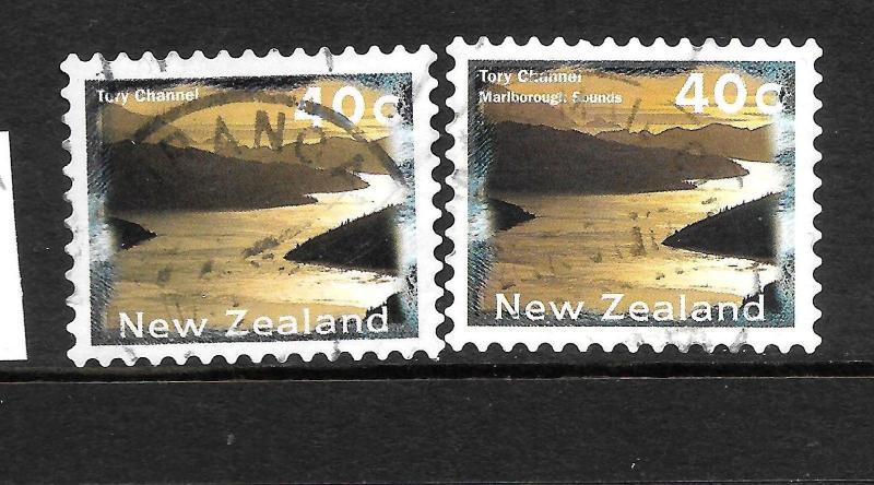 NEW ZEALAND  1996  40c  MARLBOROUGH SOUNDS   ERROR FU