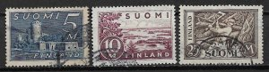 1930 Finland 177-9 complete used set (#177 has faults)