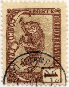 CONGO FRANÇAIS - 1900/04 CàD FORT-CRAMPEL on Yv.27/Mi.30 1c Panther - TB