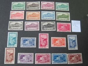 French Reunion 1933 Sc 136-166 selected MH