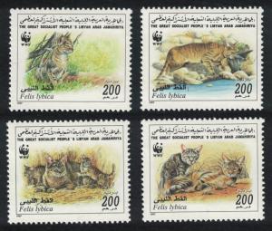 Libya WWF African Wild Cat 4v SG#2654-2657 MI#2496-2499 SC#1594a-d