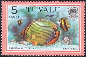 Tuvalu # 99 mnh ~ 5¢ Fish