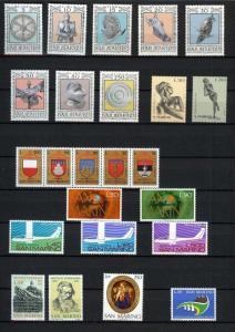 1974 - SAN MARINO - Complete year set - Scott #832 and others - MNH**