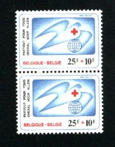 Belgium #B1004   Pair   Used  1981 PD