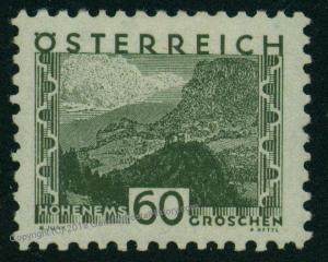Austria Small Scenes Mi542 Hohenems 60g Olive Green MNH 51162