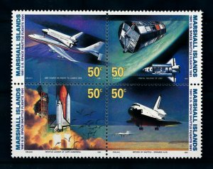 [102292] Marshall Islands 1991 Space travel weltraum Shuttle flights  MNH