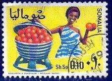 Fruit, Oranges, Somalia stamp SC#324 Used