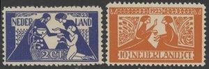 Netherlands B4 & B5 complete set - mnh semi-postal stamps