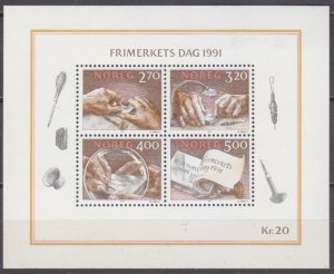 1991 Norway 1070-73/B15 Day of the stamp 6,50 €