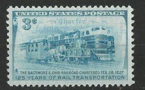 USA # 1006  B. & O. Railroad     (1) VF Mint NH
