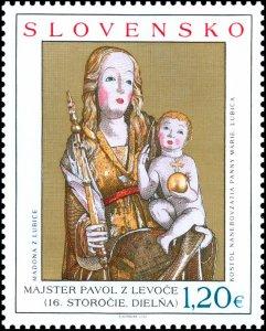 stamps Slovakia 2020. - Art: Gothic Madonna Lubicka