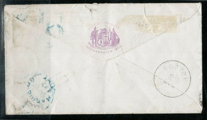USA #158 Used Along With Canada #37e On Redirected Dead Letter Cover To Maine